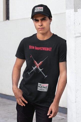 Kein Impfzwang T-Shirt unisex schwarz
