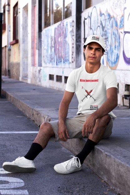 Kein Impfzwang T-Shirt unisex weiss